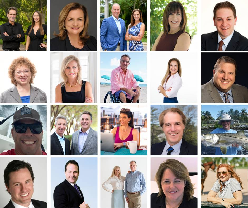 Photo collage of headshots of our many clients